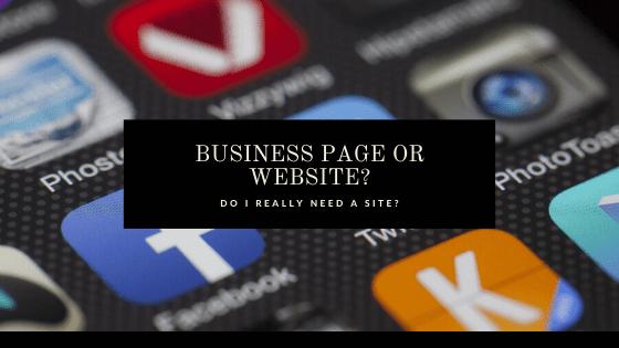 Website Versus Social Media Page